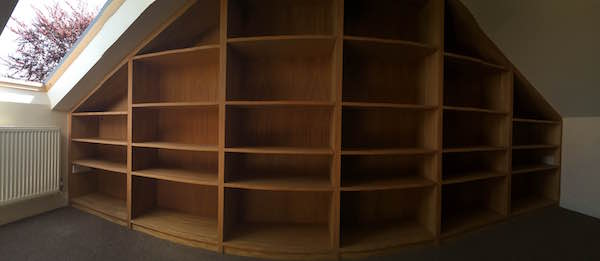 Beautiful Bookcase oak bookcase bespoke custom newbury carpenter
