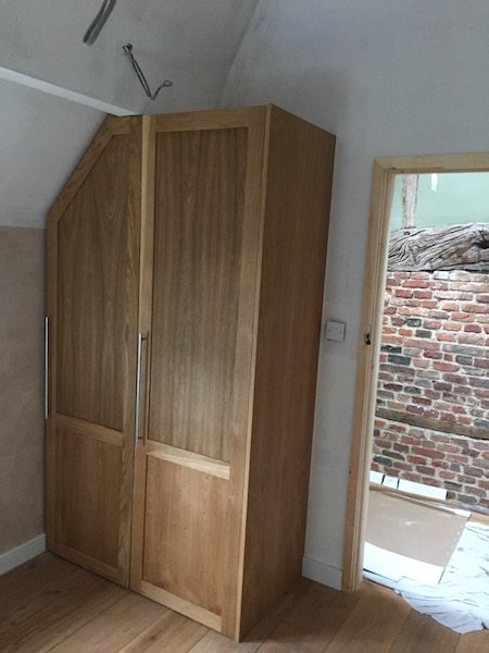 Oak Veneer Wardrobe danish oil carpentry joiner newbury berkshire
