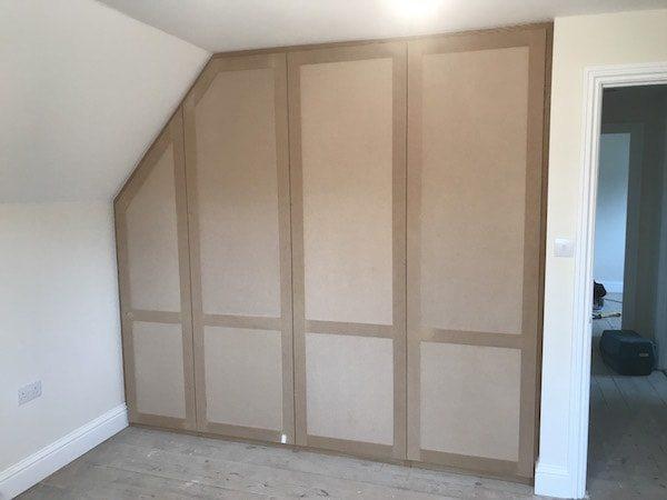 Bespoke Oak Wardrobe with False Door Carpentry by Craig Ross berkshire hampshire