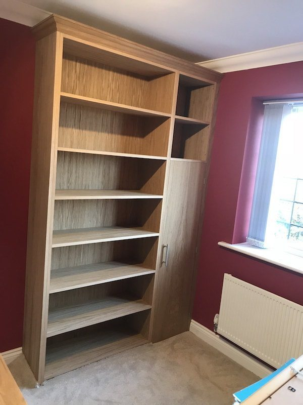 Oak Bookcase Designed Around A Gun Cabinet Carpentry by Craig Ross West Berkshire