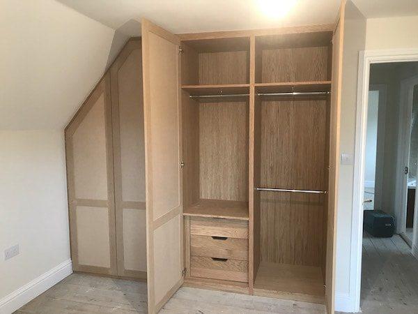 bespoke oak wardrobe with false door carpentry by craig ross. Black Bedroom Furniture Sets. Home Design Ideas