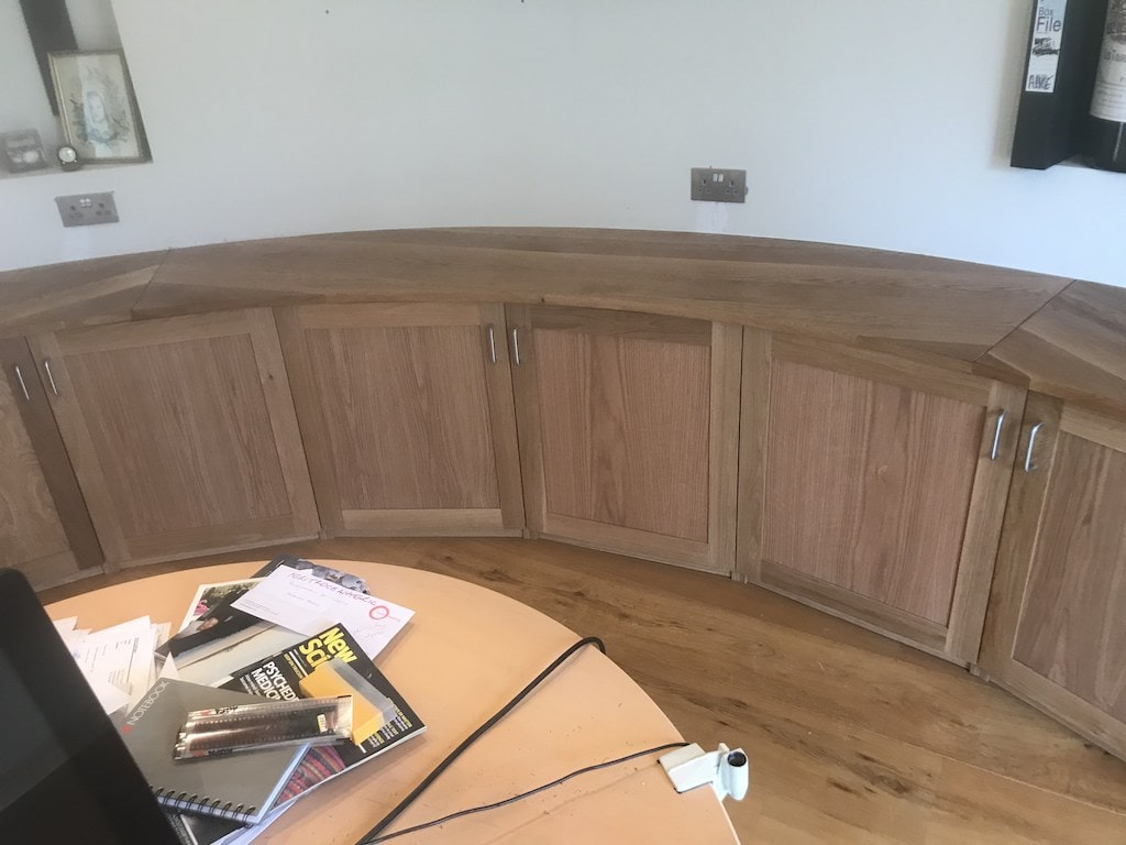 curved oak office unit carpentry joiner newbury berkshire