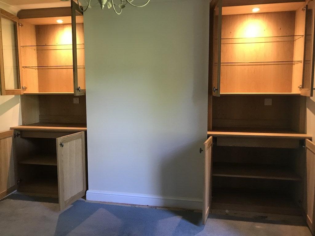 Beautiful Oak Display Cabinets veneer